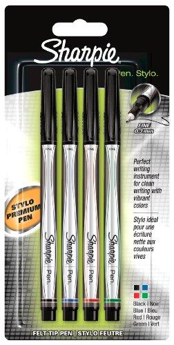 sharpie-juego-de-rotuladores-de-punta-fina-4-unidades-03-mm-tinta-negra-azul-roja-y-verde