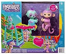 Fingerlings Monkey Bar Playset w/ 2 Fingerlings - Savannah and Clara