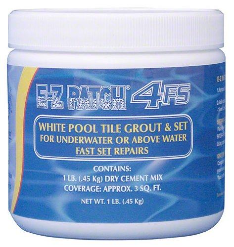 E-Z Patch 4'f. S. weiß (Fast Set Pool Fliesenfugbrett Reparatur) 1Lb. -