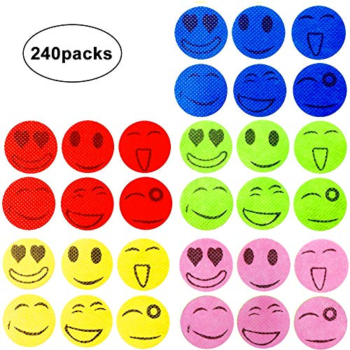 120x SMILEY INSECT MOSQUITO NATURAL REPELLENT STICKERS PATCHES OIL ED
