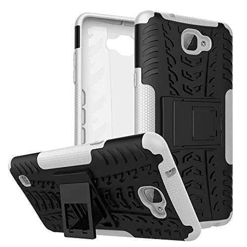 YHUISEN Hyun Pattern Dual Layer Hybrid Armor Case Abnehmbar Kickstand 2 In 1 Shockproof Tough Rugged Case Cover für LG X Max ( Color : Orange ) White