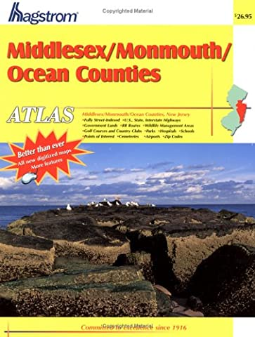 Middlesex/Monmouth/Ocean NJ Atlas (Middlesex County, Monmouth County, Ocean County, Nj Atlas)