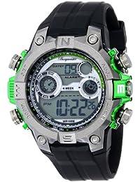 Burgmeister Armbanduhr für Herren mit Analog Anzeige, Quarz-Uhr und Silikonarmband, Wasserdichte mit zeitlosem, schickem Design - klassische, elegante Uhr für Männer - BM800-112D Digital Power