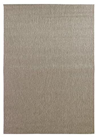 Modern Quality Mat Jute Flat Weave Grey, Mink and Charcoal Rug in Various Sizes Carpet (60x300cm (2'x10') Runner,