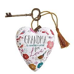 Idea Regalo - Art Hearts by Demdaco Art by Demdaco-Portachiavi con cuori Nonna, a forma di cuore