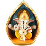 Avighna's Ganpati Ganesha Ganesh Car Dashboard Idols Murti Showpiece Statue Figurine For Home Decor Office Living Room Pooja Puja Room House Warming Inauguration Gift Gifts Car Accessories Interior Decoration.