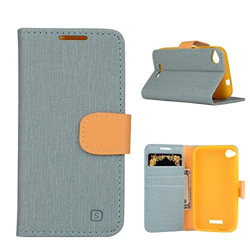 MOONCASE HTC Desire 320 Hülle, Tasche Pu Leder Klappetui Schutzhülle für HTC Desire 320 Handyhülle [Card Slot] TPU Case mit Standfunktion Teal