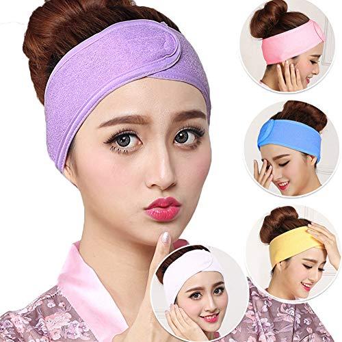 DQICE Haarband Ladies Spa absorbierendes elastischem Klett-Haarband Yoga-Gesichtstuch mit -