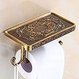 KHSKX Antike Papiertuchrolle Inhaber europäischer Stil Bad Regale mobile Halter wc Papierhalter Papierhalter Antike