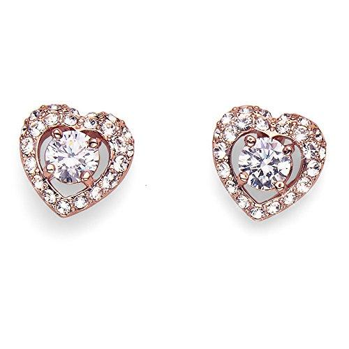 Oliver Weber Orecchini Adore rosegold Crystals from Swarovski