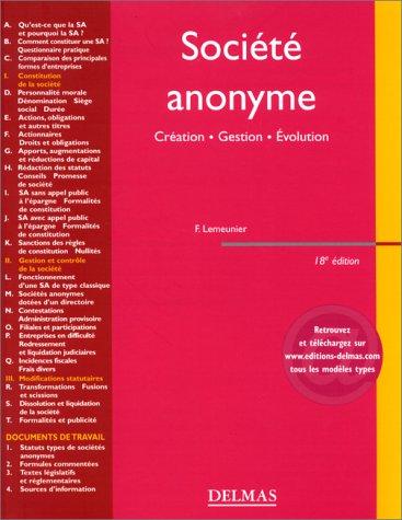 Société anonyme. 18ème édition