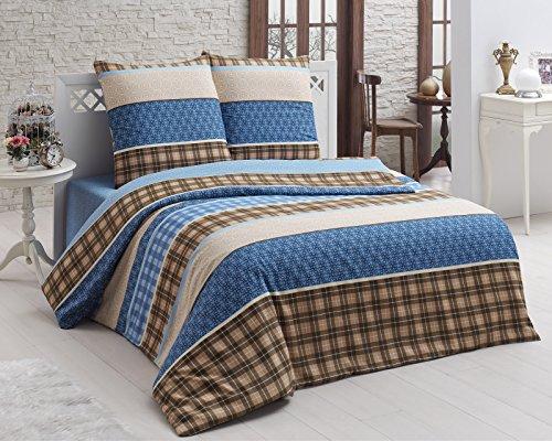 Bettwäsche ✔135x200 ✔200x200 ✔200x220 Garnitur Bettbezug Kissenbezug ✓2tlg✓3tlg mit RV (135x200 cm, Design 17)