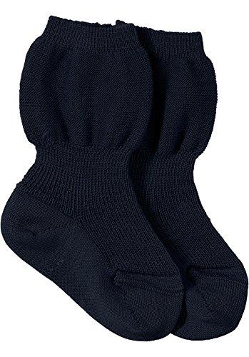 hessnatur Baby Mädchen und Jungen unisex Socke aus reiner Bio-Merinowolle natur, blau, beige 15-16, 17-18, 19-22, 23-26 (Socken Merinowolle Leichte)