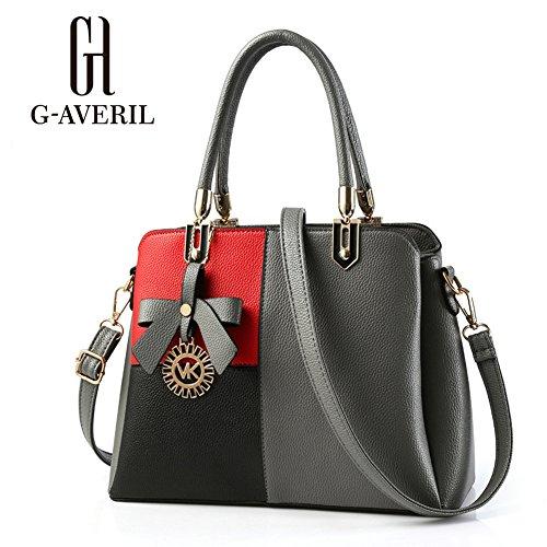 G-AVERIL, Borsa a mano donna Nero Black Grey