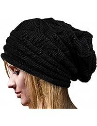 ILOVEDIY Chapeau d'hiver Beanie Bonnet Laine Crochet Femme Ski