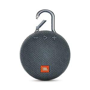 (Renewed) JBL Clip 3 Ultra-Portable Wireless Bluetooth Speaker with Mic (Blue)