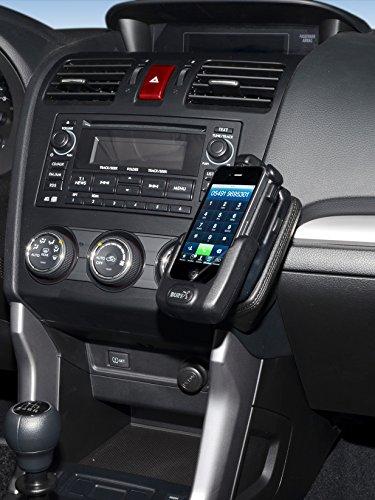 KUDA 1455 Halterung Kunstleder schwarz für Subaru Forester (SJ) ab 03/2013 ab 2011 / Impreza (4. Gen) ab 04/2013 / XV ab 2011 Iso Mount (iso-radios