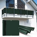 Balkon Sichtschutz 6x0,75 m grün Balkonsichtschutz Balkonverkleidung Sichtschutzmatte Balkonverkleidung Balkonbespannung