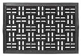 Dynamic, Gummi-Fußmatte, Gummi-Türmatte, Eingangsmatte, Vorleger Artikel 327-01 Rillen schwarz ca. 40 x 60 cm 100 % Gummi, extrem strapazierfähig und allwetterfest
