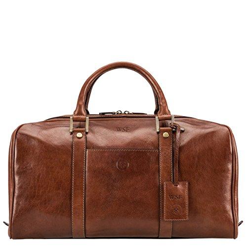 Maxwell Scott Bags® Leder-Reisetasche in Cognac Braun (FleroS)
