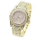 Amlaiworld Reloje Mujer reloj deportivo baratos Reloj de pulsera Relojes de cuarzo analógico para mujer Diamantes de negocios (Oro)
