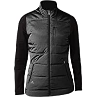 adidas Climawarm Full-Zip Quilted Chaqueta de Golf, Mujer, Negro, XS