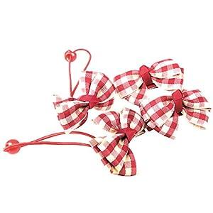 MagiDeal 4 Stück Kinder Mädchen Plaid Band Bogen Bowknot Haarspangen Barrette Haarband
