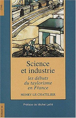 Science et industrie : les débuts du taylorisme en France