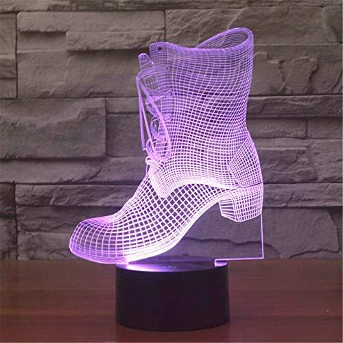 3D Prinzessin Stiefel Lampe Touch Kreative Kleine Schalter Nachtlicht Stereo Vision Lampe Sieben Farbe Ändern Für Mädchen Geschenk Spielzeug (Vader Darth Stiefel)