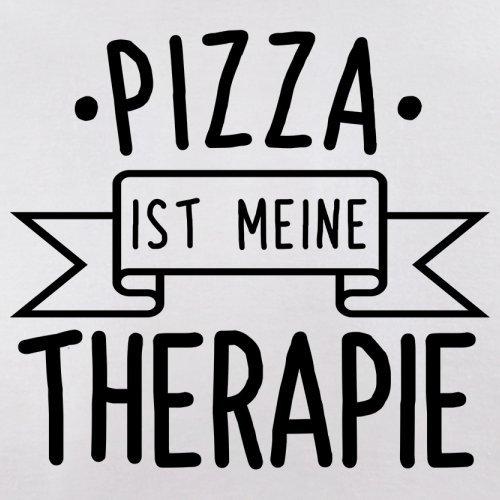 Pizza ist meine Therapie - Herren T-Shirt - 13 Farben Weiß