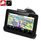 High-Tech Place High-Tech Place 7 Inch Android 4.4 GPS Navigation - 800x480 Touchscreen, FM Transmit, 32GB Micro SD Card Support