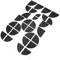 Carbon emblem coins pour bMW