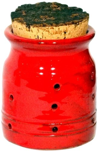 Amazing Cookware Terracotta Garlic Jar, Red