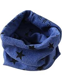 xinxinyu Schals Kinder Baby Herbst Winter Jungen Mädchen Kragen Baby Schal Baumwolle O Ring Halstücher Schal Halstuch loop schal Hals Wärmer(2-10Jahre