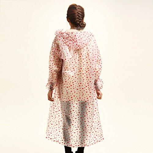Raincoat imperméable couples transparent allongé pour augmenter les hommes et les femmes du tourisme modèles de randonnée en plein air imperméables ( Couleur : A ) C