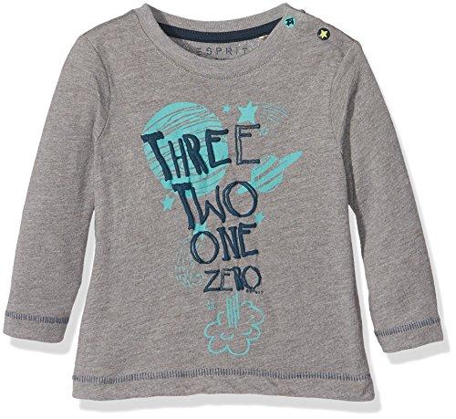 Esprit Kids Baby-Jungen T-Shirt RI1013C, Grau (GUN METAL 015), Gr. 62