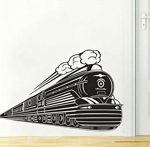 Pbldb Steam Train Etiqueta De La Pared Decoración Para El Hogar Sala De Estar Extraíble Niños Decoración De La Habitación Nursery Wall Decals 60X90Cm