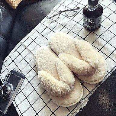 FSCHOOLY Scarpe Donna Pu Comfort Estivo Sandali Flat Per Esterni Di Rosa Blu Verde Grigio Beige Il beige