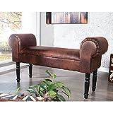 Design SITZBANK Savanne | Vintage braun, 100x35cm |Kunstleder Gepolstert, Garderobenbank, Polsterbank für Flur oder Treppenhaus Vergleich