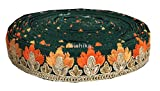 #6: 9mtr Lace Saree Border Trim Bottle Green dupion silver gold orange embroidery used for Women Saree Dress Dupatta
