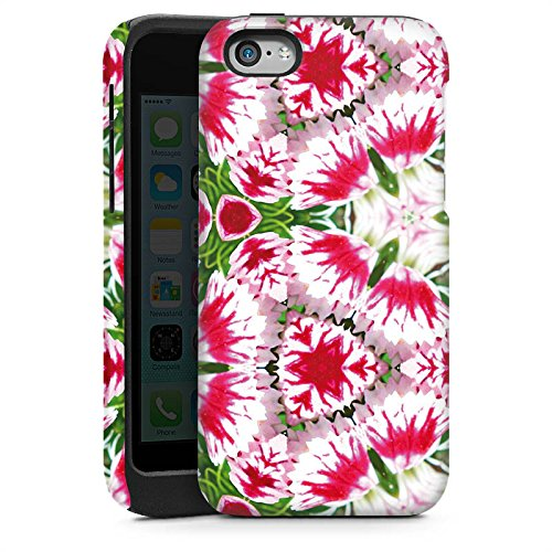 Apple iPhone 4 Housse Étui Silicone Coque Protection Moderne Kaléidoscope Fleurs Cas Tough brillant