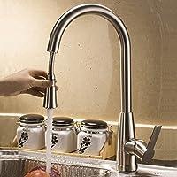 Azos lavello rubinetti miscelatori free ruotabile singola maniglia estraibile in ottone miscelatore nichel spazzolato in acciaio INOX Colore