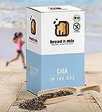 Brotbackmischung Bio Chia in the Box glutenfrei, Chia-Brot, 1er Box, vegan, Brot Backmischung zum selber backen im Brotbackautomat oder Backofen (1 x 635 g für 1,2 kg glutenfreien Brotteig)