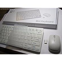 Sans fil Mini Blanc clavier et souris pour Panasonic Viera Tx-39as600Smart TV