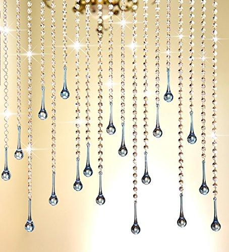 rlen Tür Vorhang Octagon DIY Home Schlafzimmer Weihnachten Hochzeit Party Club Store Feier ( Farbe : #2 , größe : L 100CM*W 120cm ) (Diy Perlen-tür-vorhänge)
