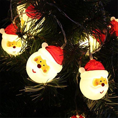 1,5 Mt 10 LED Lichterkette Schneemann Weihnachtsbeleuchtung Höhe Batterie außen Deko transparentes Kabel beleuchtet Weihnachtsdeko Für Party Innen/Außen Haus Deko String Lights