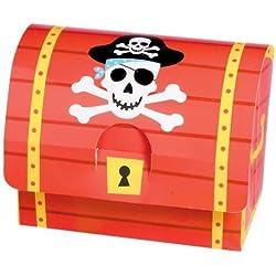 Cajas con piratas para detalles, 8 ud.