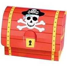 8 Schatztruhen aus Karton für kleine Piraten von AMSCAN//399900//Schatztruhe Schatzkiste Schatzbox Truhe Kiste Box Pirat Schatz Party Kindergeburtstag Geburtstag