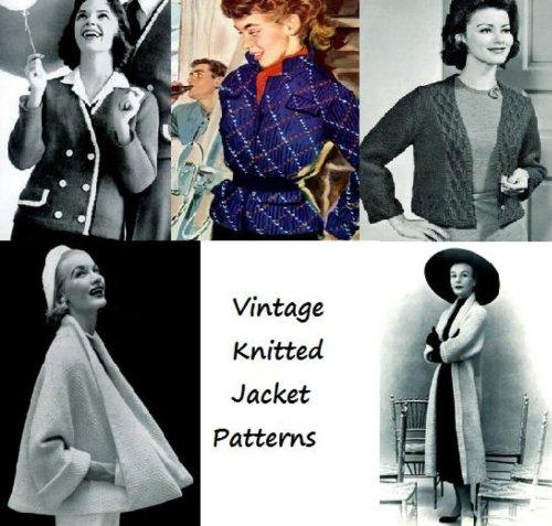 Vintage patrones de chaqueta de punto por Unknown