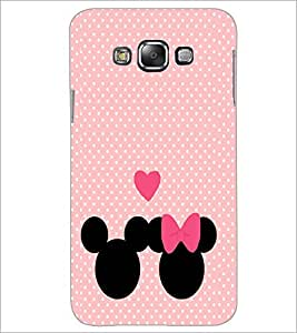 PrintDhaba Mickey and Minnie D-2237 Back Case Cover for SAMSUNG GALAXY E7 (Multi-Coloured)